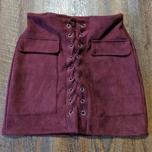 Dresses & Skirts - Mini Suede Skirt